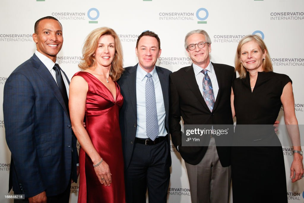 Mike Woods, Kris Moor, Glen Rink, David Greenwald and Catherine Swift attend the Conservation International 16th Annual New York Dinner at The Plaza Hotel on May 15, 2013 in New York City.