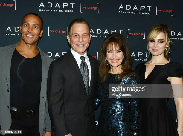 Mike Woods Tony Danza Susan Lucci and Cara Buono attend the 2019 2nd Annual ADAPT Leadership Awards at Cipriani 42nd Street on March 14 2019 in New...