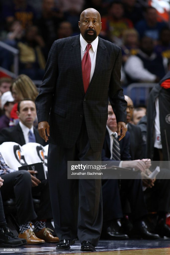 Mike Woodson assistant coach of the LA Clippers reacts druing the first half against the New Orleans Pelicans at the Smoothie King Center on January 28, 2018 in New Orleans, Louisiana.
