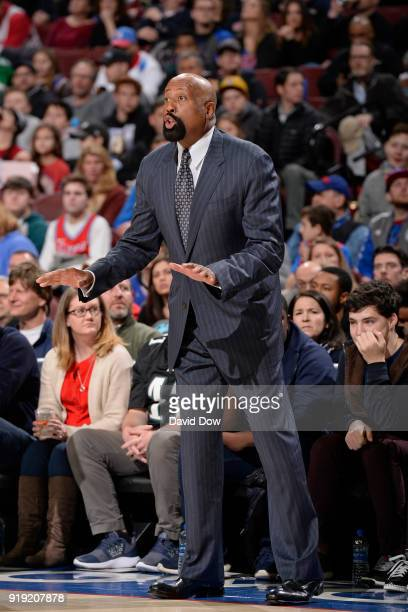 Mike Woodson of the LA Clippers during the game against the Philadelphia 76ers at Wells Fargo Center on February 10 2018 in Philadelphia Pennsylvania...