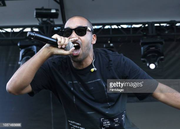 Mike Xavier performs on Huntridge Stage during the 2018 Life Is Beautiful Festival on September 21 2018 in Las Vegas Nevada