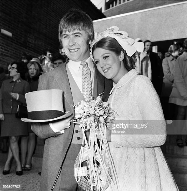 Mike Yarwood the impressionist and comedian married Sandra Burville aged 23 at the Church of St Thomas Moore Swiss Cottage London November 1969...