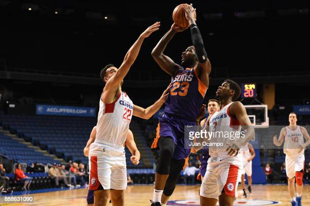 Mike Young of the Northern Arizona Suns dunks the ball against the Agua Caliente Clippers on December 8 2017 at Citizens Business Bank Arena in...