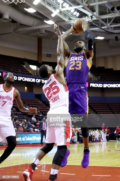 Mike Young of the Northern Arizona Suns shoots the ball against Memphis Hustle during an NBA GLeague game on February 21 2018 at Landers Center in...