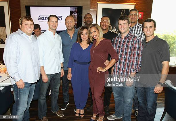 Mike Zagurski, Matt Daley, Derek Jeter, Rosanna Scotto, CC Sabathia, Amber Sabathia, Cesar Cabral, Adam Warren, Dellin Betances and Brett Marshall...