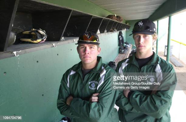 Mike Zarlengo at left and Sean Ratliff Niwot High School Baseball pitchers.