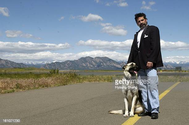 JEFFCO CO JUNE 11 2004 Mike Zinna of Jefferson County and his dog Ponzi at the Jeffco airport on Friday When some people talk about Marvin Heemeyer...
