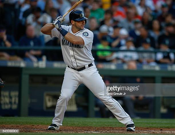 Mike Zunino of the Seattle Mariners bats against the Baltimore Orioles at Safeco Field on July 2 2016 in Seattle Washington