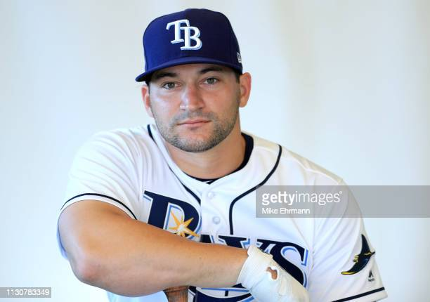 Mike Zunino of the Tampa Bay Rays poses for a portrait during photo day on February 17 2019 in Port Charlotte Florida