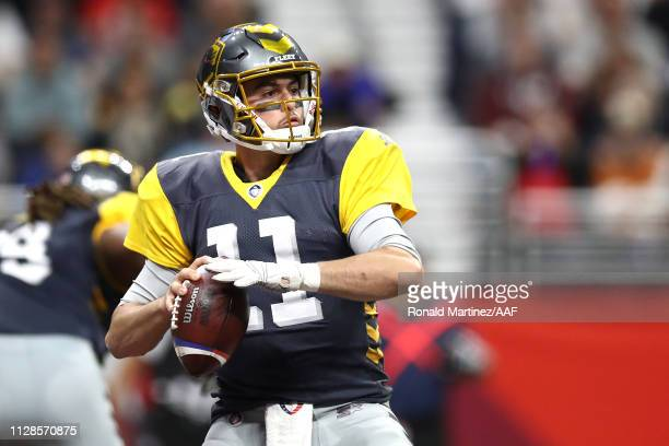 MikeBercovici of the San Diego Fleet looks to pass the ball during the first half against the the San Antonio Commanders in an Alliance of American...