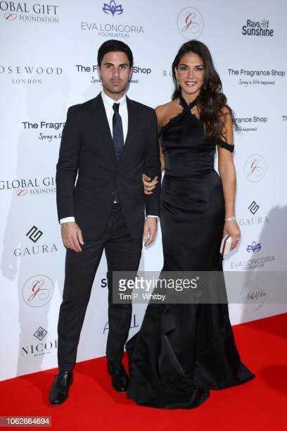 Mikel Arteta and Lorena Bernal attend The 9th Annual Global Gift Gala held at The Rosewood Hotel on November 02 2018 in London England