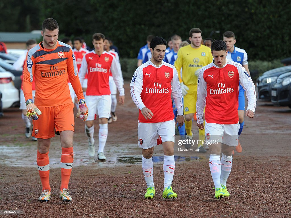 Arsenal U21 v Blackburn Rovers U21 - Barclays Premier Under-21 League : News Photo