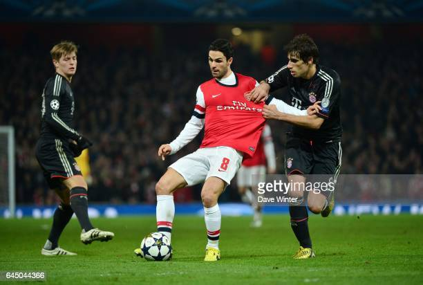 Mikel ARTETA / Javi MARTINEZ Arsenal / Bayern Munich 1/8Finale Aller Champions League Photo Dave Winter / Icon Sport