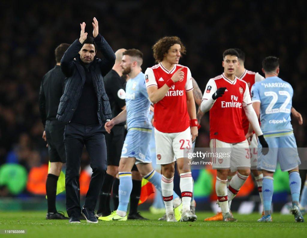 Arsenal FC v Leeds United - FA Cup Third Round : News Photo
