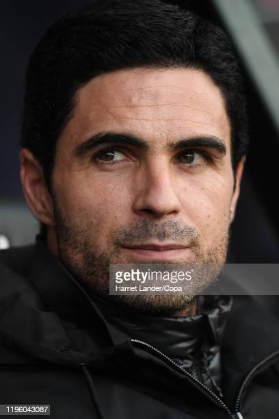 Mikel Arteta Manager of Arsenal looks on prior to the Premier League match between AFC Bournemouth and Arsenal FC at Vitality Stadium on December 26...
