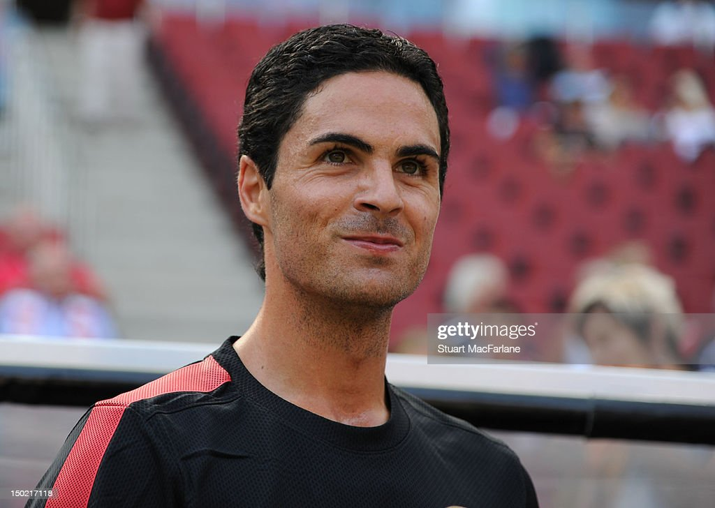 Mikel Arteta of Arsenal before the Pre-Season Friendly game at Rhein Energie Stadium on August 12, 2012 in Cologne, Germany.