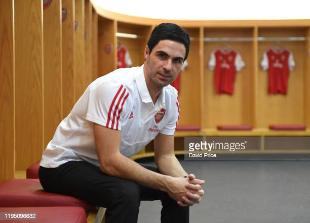 Mikel Arteta the Arsenal Head Coach at Emirates Stadium on December 20 2019 in London England