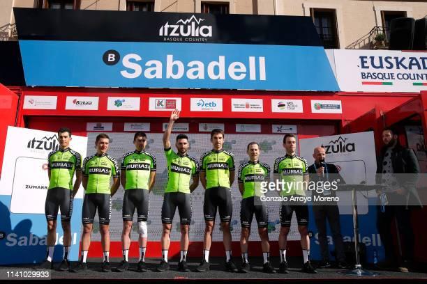 Mikel Bizkarra of Spain and Team Euskadi Basque Country - Murias / Sergio Samitier of Spain and Team Euskadi Basque Country - Murias / Hector Sáez of...