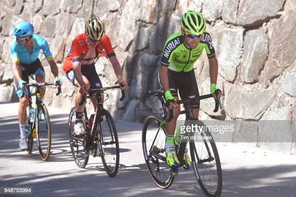 Mikel Bizkarra of Spain and Team Euskadi Murias / Mark Padun of Ukraine and Team Bahrain Merida / Davide Villella of Italy and Astana Pro Team /...