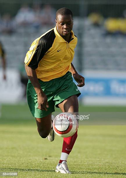 Mikel Dogbe Dodji of Togo in action during the International friendly match between Morocco and Togo at the Stade Diochon on August 17 in Rouen France
