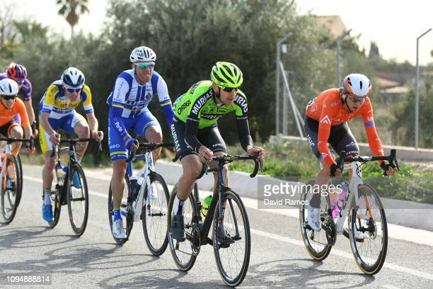 Mikel Iturria of Spain and Team Euskadi Basque CountryMurias / Nigel Ellsay of Canada and Team Rally UHC Cycling / during 70th Volta a la Comunitat...