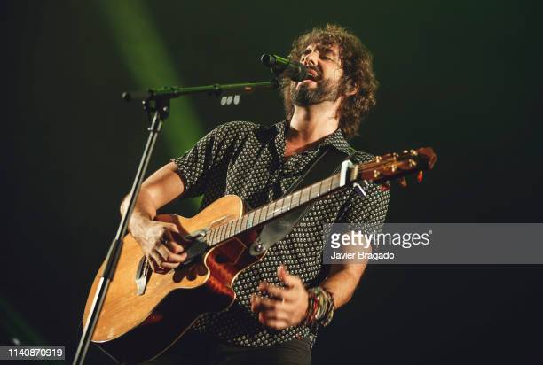 Mikel Izal from the band Izal performs onstage at WiZink Center on April 06 2019 in Madrid Spain