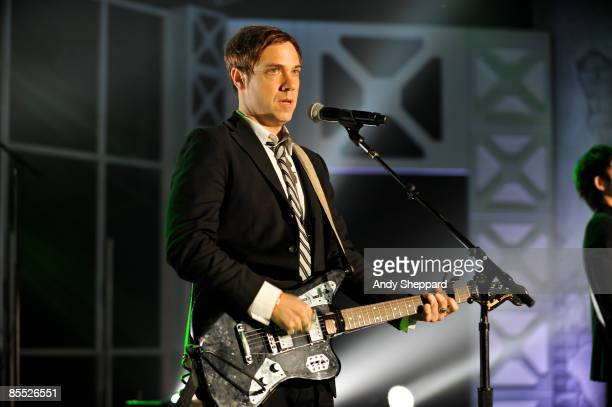 Mikel Jollett of Airborne Toxic Event performs on stage at the Bat Bar as part of the SXSW 2009 Music Festival on March 19 2009 in Austin Texas USA