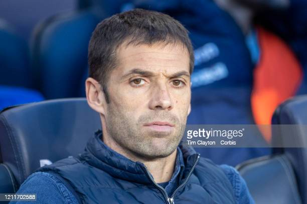 Mikel Labaka assistant manager of Real Sociedad in the dugout during the Barcelona V Real Sociedad La Liga regular season match at Estadio Camp Nou...