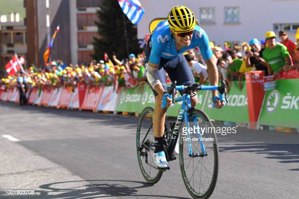 Mikel Landa Meana of Spain and Movistar Team / Alpe d'Huez / during the 105th Tour de France 2018 Stage 12 a 1755km stage from BourgSaintMaurice Les...
