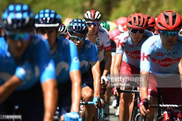 Mikel Landa Meana of Spain and Movistar Team / Ilnur Zakarin of Rusia and Team KatushaAlpecin / during the 39th Clásica Ciclista San Sebastián 2019 a...