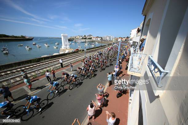 Mikel Landa Meana of Spain and Movistar Team / Jose Joaquin Rojas of Spain and Movistar Team / Silvan Dillier of Switzerland and Team AG2R La...
