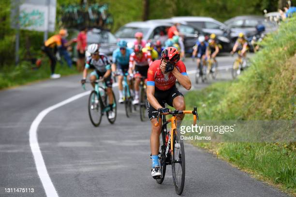 Mikel Landa Meana of Spain and Team Bahrain Victorious during the 60th Itzulia-Vuelta Ciclista Pais Vasco 2021, Stage 4 a 189,2km stage from...