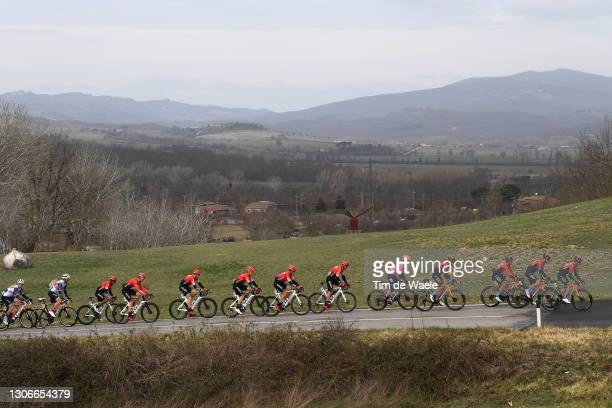Mikel Landa Meana of Spain and Team Bahrain Victorious, Nairo Alexander Quintana Rojas of Colombia, Thomas Boudat of France, Laurent Pichon of...