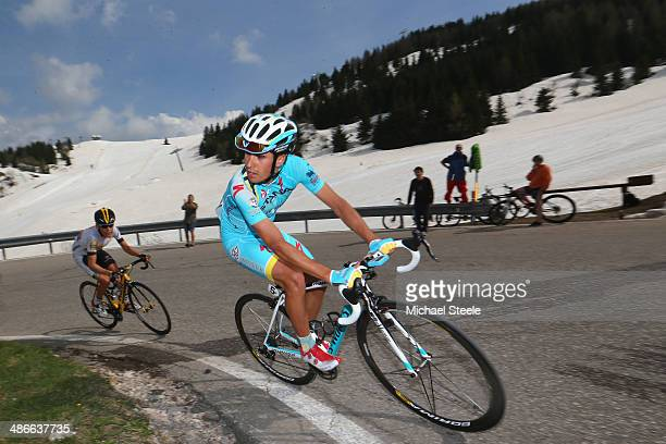 Mikel Landa of Spain and Astana Pro Racing heads towards the summit of Vason MonteBondone and the stage victory during stage four of the Giro del...