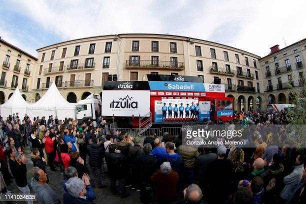 Mikel Landa of Spain and Movistar Team / Carlos Betancur of Colombia and Movistar Team / Ruben Fernandez of Spain and Movistar Team / Antonio Pedrero...