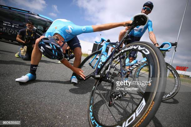 Mikel Landa of Spain and Movistar Team / Imanol Erviti of Spain and Movistar Team / Canyon Bike / during the 105th Tour de France 2018, Training /...