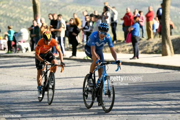 Mikel Landa of Spain and Team Bahrain - McLaren Orange Mountain Jersey / Marc Soler of Spain and Movistar Team / during the 66th Vuelta a Andalucía -...