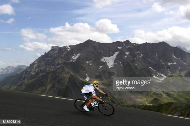 Mikel Landa of Spain and Team SKY descends the Col du Galibier on stage seventeen of the 2017 Tour de France a 183km road stage from La Mure to...