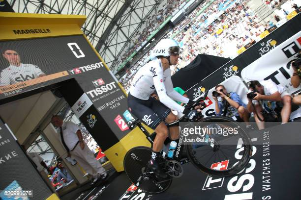 Mikel Landa of Spain and Team Sky during stage 20 of the Tour de France 2017 an individual time trial of 225km on July 22 2017 in Marseille France