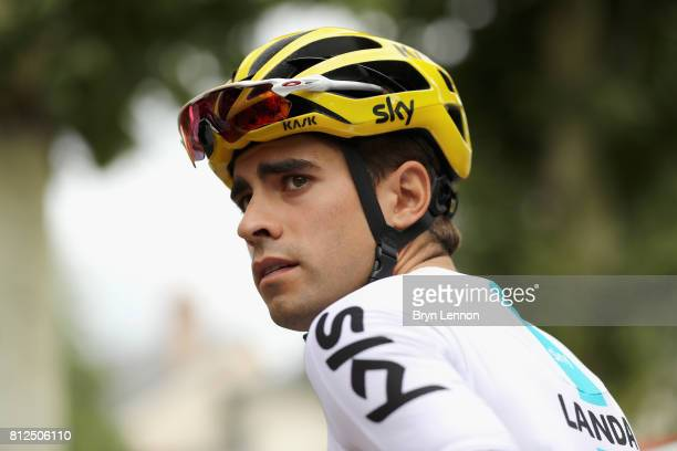 Mikel Landa of Spain riding for Team Sky looks on prior to stage 10 of the 2017 Le Tour de France a 178km stage from Perigueux to Bergerac on July 11...