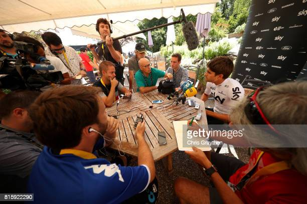 Mikel Landa of Spain riding for Team Sky speaks to the media on the second rest day of Le Tour de France 2017 on July 17 2017 in Le PuyenVelay France