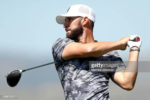 Mikel Martinson hits off the 15th tee during the first round of the TPC Colorado Championship contested at TPC Colorado on July 01 2020 in Berthoud...
