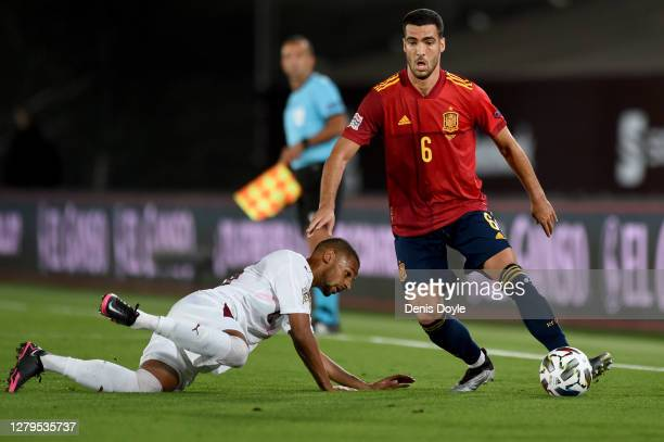 Mikel Merino of Spain in action during the UEFA Nations League group stage match between Spain and Switzerland at Estadio Alfredo Di Stefano on...