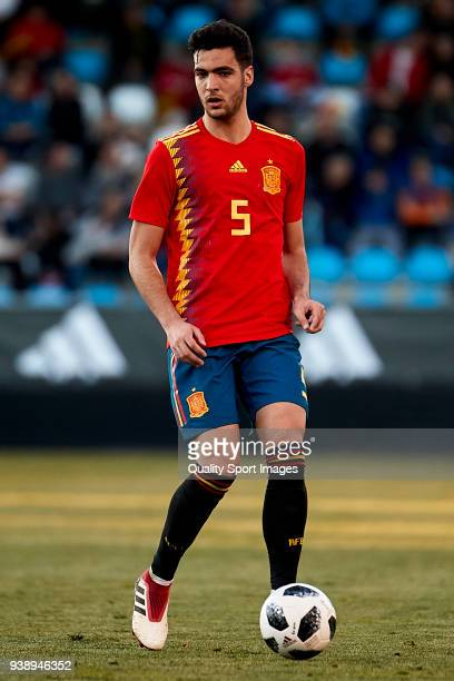Mikel Merino of Spain U21 in action during the 2019 UEFA Under 21 qualification match between Spain U21 and Estonia U21 at Toralin Stadium on March...