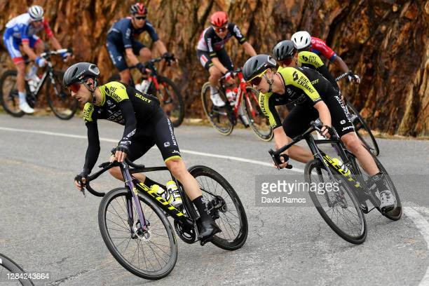 Mikel Nieve Ituralde of Spain and Team Mitchelton - Scott / Dion Smith of New Zealand and Team Mitchelton - Scott / during the 75th Tour of Spain...