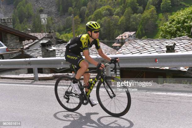 Mikel Nieve Ituralde of Spain and Team Mitchelton-Scott / during the 101st Tour of Italy 2018, Stage 20 a 214km stage from Susa to Cervinia 2001m /...