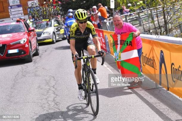 Mikel Nieve Ituralde of Spain and Team Mitchelton-Scott / Fans / qpubaduring the 101st Tour of Italy 2018, Stage 20 a 214km stage from Susa to...