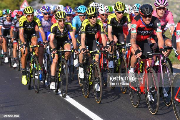 Mikel Nieve Ituralde of Spain and Team MitcheltonScott / Simon Yates of Great Britain and Team MitcheltonScott / Rohan Dennis of Australia and BMC...
