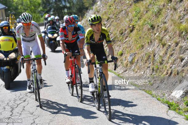 Mikel Nieve of Spain and Team MitcheltonScott / Damiano Caruso of Italy and BMC Racing Team / Warren Barguil of France and Team Fortuneo Samsic /...