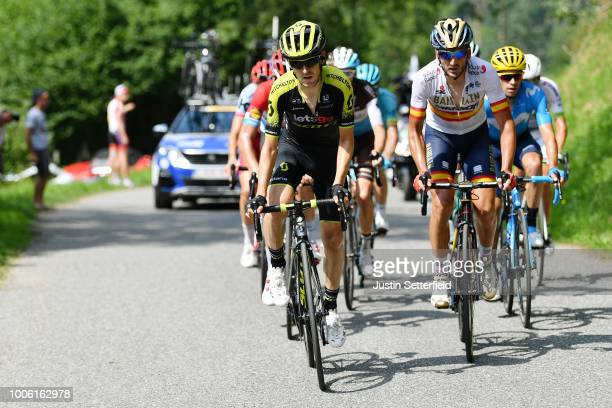 Mikel Nieve of Spain and Team MitcheltonScott / Gorka Izagirre of Spain and Bahrain Merida Pro Team / during the 105th Tour de France 2018 Stage 19 a...